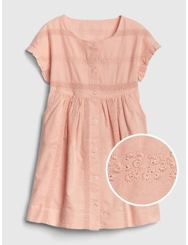 Eyelet Button Front Dress by Gap