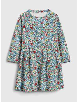 Floral Button Front Dress by Gap