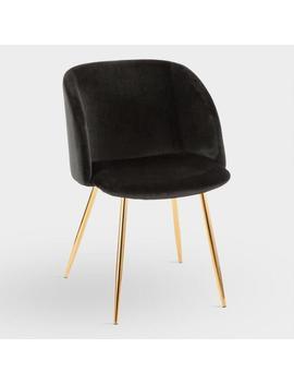 Velvet Eva Upholstered Dining Chairs Set Of 2 by World Market