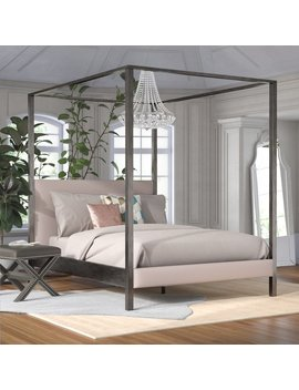 Cambree Upholstered Canopy Bed by Willa Arlo Interiors