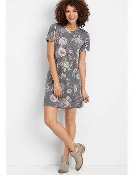 Faded Floral T Shirt Dress by Maurices