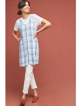 Cloth & Stone Plaid Buttondown Dress by Cloth & Stone