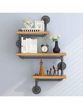 Nathan 3 Tier Pipe Wall Shelf by 17 Stories