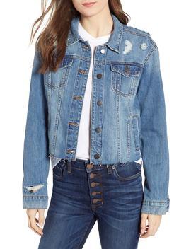 Boyfriend Crop Denim Jacket by Sts Blue