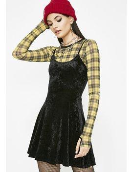 Moody Daze Velvet Dress by Diosa