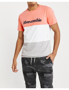 Applique Logo Colorblock Tee by Abercrombie & Fitch