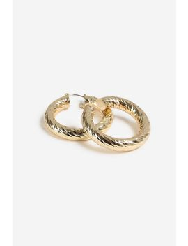 Etched Hoop Earrings by Topshop