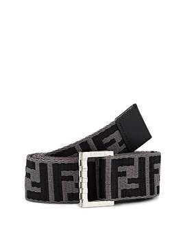 Logo Jacquard Webbed Fabric Belt by Fendi