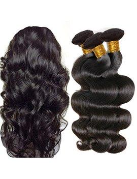 Jinren Brazilian Body Wave Virgin Hair 4 Bundles 12 14 16 18inch Unprocessed Brazilian Virgin Human Hair Weave Natural Black 10 28inch by Jinren