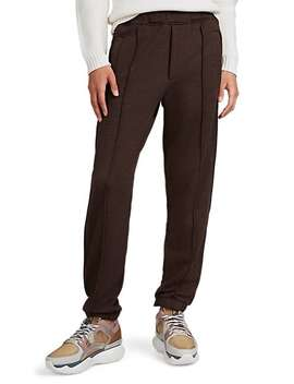 Logo Striped Cotton Blend Fleece Sweatpants by Fendi