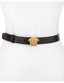 Palazzo Medusa Leather Belt by Neiman Marcus