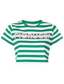Striped Crop T Shirt by Fiorucci