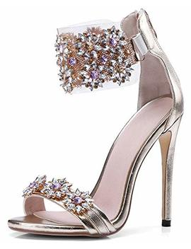 High Heel Rhinestone Sandals, Women's Stiletto Sandals, Sandals Women by Hinyyrin