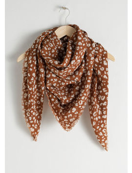 Leopard Wool Scarf by & Other Stories