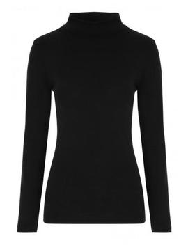Womens Black Roll Neck Top by Peacocks