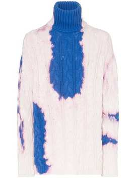 Bleach Stained Roll Neck Jumper by Balenciaga