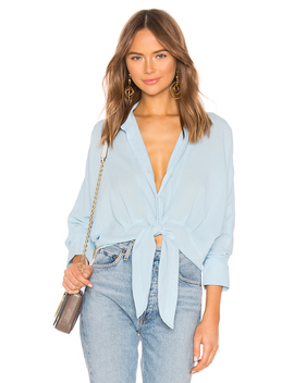 Lindsay Tied Shirt by Line & Dot
