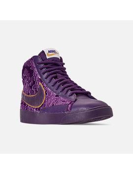 Women's Nike Blazer Mid Metallic Casual Shoes by Nike
