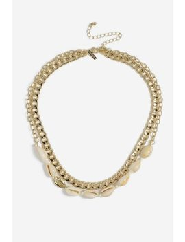 **Shell And Chain Multirow Necklace by Topshop