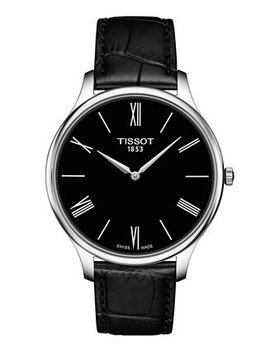 Men's Swiss T Classic Tradition 5.5 Black Leather Strap Watch 39mm by Tissot