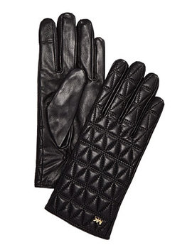 Quilted Leather Gloves by Michael Michael Kors