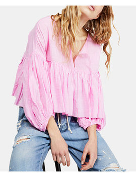 Beaumont Mews Cropped Peasant Top by Free People