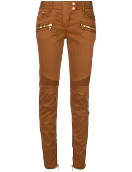 Slim Fit Biker Style Trousers by Balmain