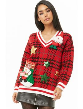 Plaid Holiday Sweater by Forever 21