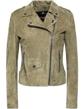 Suede Biker Jacket by 7 For All Mankind