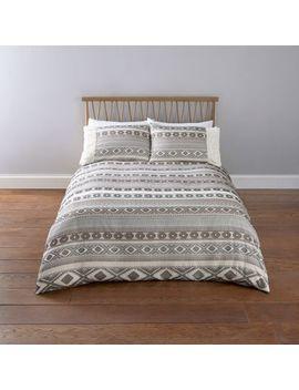 Cream Aztec Jacquard Double Duvet Bed Set by River Island