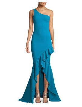 Valeriana Asymmetric Ruffle High Low Gown by Chiara Boni La Petite Robe