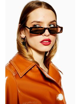 Nostalgia Rectangle Sunglasses by Topshop