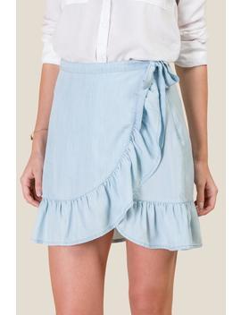 Meredith Ruffled Wrap Skirt by Francesca's