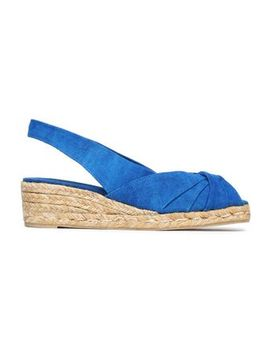 Twisted Canvas Espadrille Wedge Sandals by CastaÑer