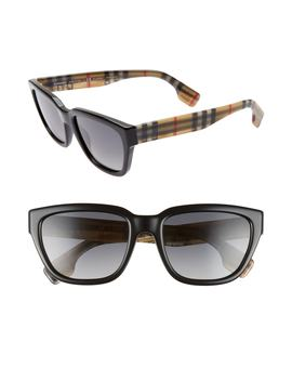 54mm Polarized Gradient Square Sunglasses by Burberry