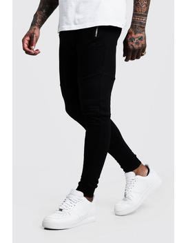 Man Signature Biker Joggers by Boohoo