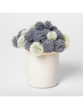 """7.5"""" X 7"""" Potted Artificial Thistle Blue/White   Threshold™ by Shop This Collection"""