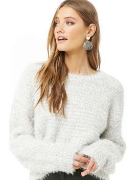 Fuzzy Popcorn Knit Sweater by Forever 21