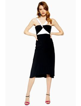Twist Halter Neck Midi Dress by Topshop