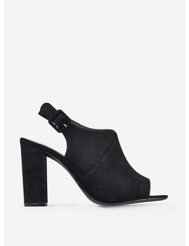 Black Microfibre 'Savo' Heeled Sandals by Dorothy Perkins