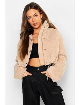Cord Puffer Jacket by Boohoo