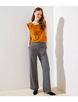 Wide Leg Pants In Herringbone by Loft