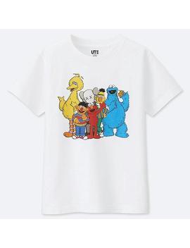 Kids Kaws X Sesame Graphic Print T Shirt by Uniqlo