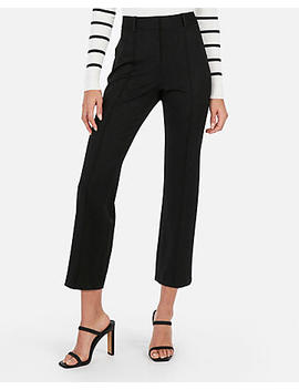 High Waisted Straight Cropped Pants by Express