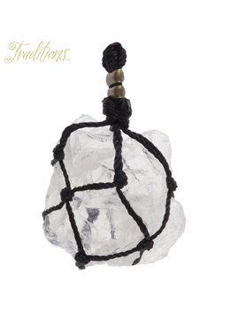 Quartz Pendant With Rope Wrap by Hobby Lobby