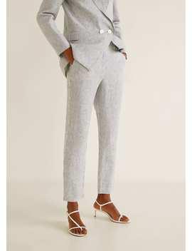 Pantalon De Costume En Lin by Mango
