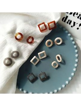 Isle Of Green   Geometric Acrylic Earring (Various Designs) by Isle Of Green