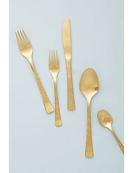 Lotus Serving Utensils, Set Of 2 by Anthropologie