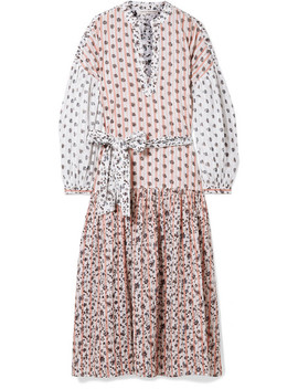 Selvi Printed Cotton Gauze Midi Dress by Ulla Johnson