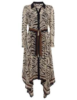 Ecru Nadine Print Shirt Dress by Mint Velvet